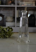 ガラスの大きな醬油さし ガラス花入れ 昭和レトロ