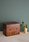 小さな裁縫箱 古民具 古道具 インテリア小箱 アンティーク裁縫箱
