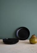 黒漆塗り皿 1枚 アンティーク
