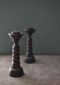 木製キャンドルスタンド 一対 蝋燭立て
