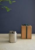純錫巴形一双式茶入 清課堂 煎茶道具