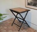 折り畳み竹象嵌テーブル