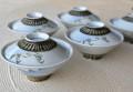 昭和レトロ蓋付き茶碗5客組み