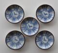 兎紋印判豆皿5枚セット