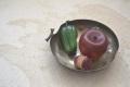 リンゴ型の菓子器