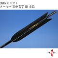 ターキー ブラック 羽中文字[龍(金)] 2015シャフト 6本組【D-971】
