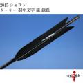 ターキー ブラック 羽中文字[龍(銀)] 2015シャフト 6本組【D-972】