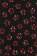 握り革印伝小桜  黒×赤【F-174】【ネコポス対象】