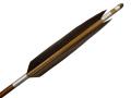 竹矢 黒手羽 4本組 弓力16kg前後 竹 竹製 既製品【M-068】