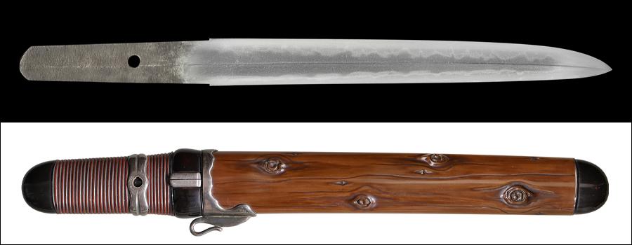 商品番号:M-167 短刀 無銘(長船祐定)  特別貴重刀剣認定書付き 拵え付き