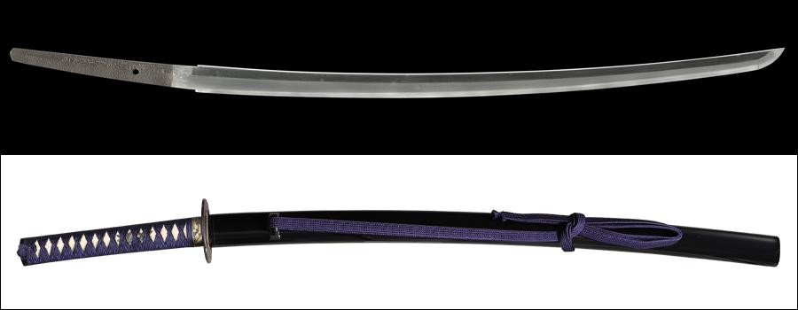 商品番号:M-210 刀 (太刀銘)肥前国住近江大掾藤原忠廣 拵え付き