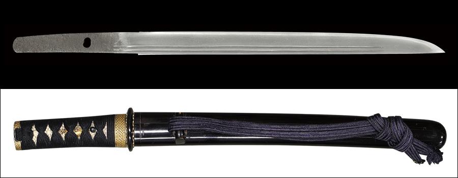 商品番号:N-010 短刀 波平(無銘) 保存刀剣鑑定書付き 拵え付き