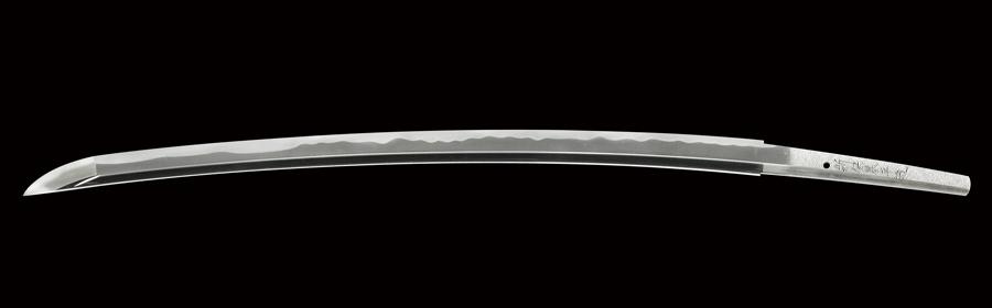 商品番号:N-485 刀 (太刀銘)新保基平造 昭和五十七年秋
