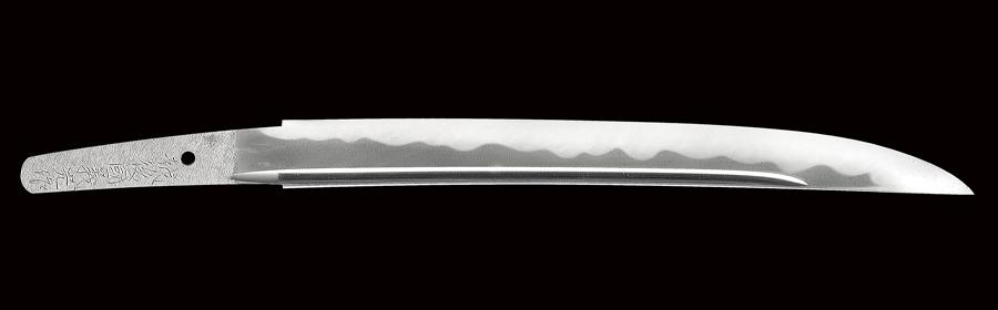 【売約済】商品番号:N-674 短刀(名物大青江写し) 越後国義光作 昭和六十一年八月吉日 無鑑査刀匠