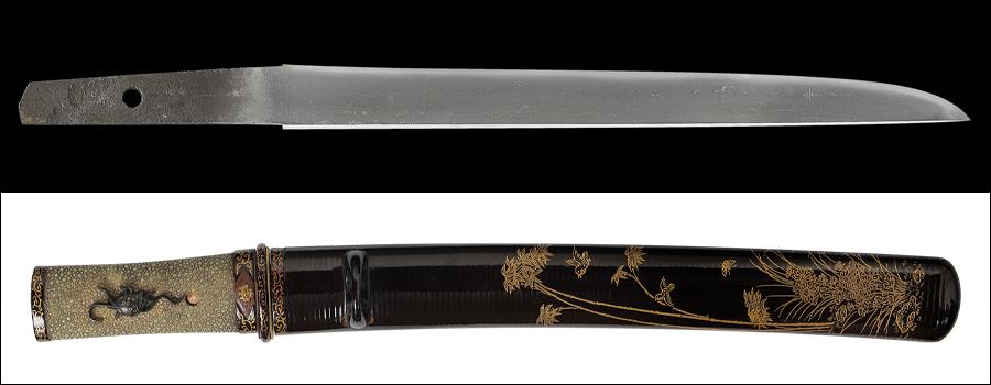 【売約済】 商品番号:N-755 短刀 則長 保存刀剣鑑定書付き 拵え入り