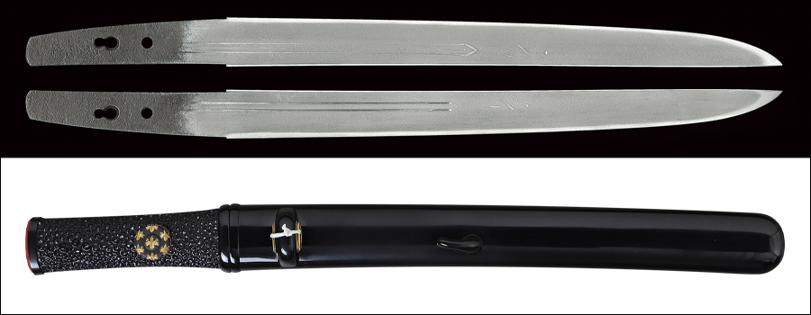 商品番号:V-1907 短刀 国光(新藤五) 特別保存刀剣鑑定書付き 拵え付き 古鞘有り