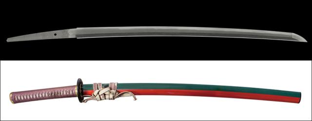 商品番号:L-328 刀 有国 拵え付き 保存刀剣鑑定書付き