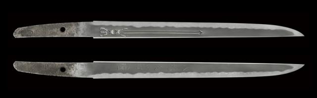 商品番号:L-432 短刀 水心子天秀(刻印) 保存刀剣鑑定書付き
