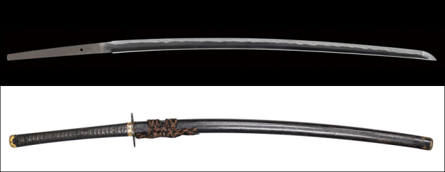 商品番号:L-511 刀 舞鶴友英作 時代拵え付き 特別保存刀剣鑑定書付き