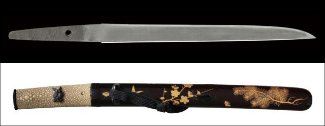 商品番号:L-730 鎧通し(短刀) 吉光 拵え付き 保存刀剣鑑定書付き