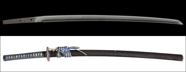 商品番号:L-902 刀 無銘(因州忠国) 拵え入り 特別貴重刀剣認定書付き