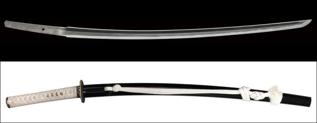 商品番号:M-035 刀 (太刀銘)備前介藤原宗次 拵え付き