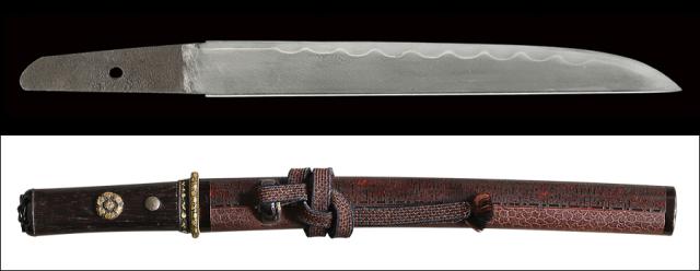 商品番号:M-381 短刀 兼□ 拵え付き 木箱付き