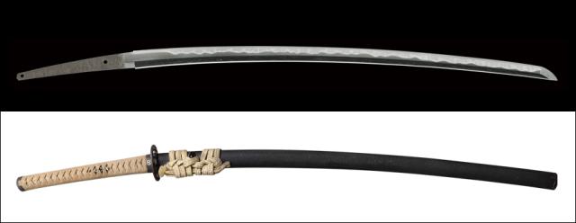 商品番号:M-438 刀 (菊紋)越前守源信吉 特別保存刀剣鑑定書付き 拵え付き(特別貴重認定書付き)