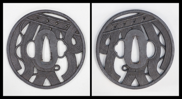 商品番号:T-053 鍔:縄暖簾の図
