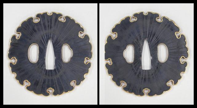 商品番号:T-085 鍔:馬師皇の図