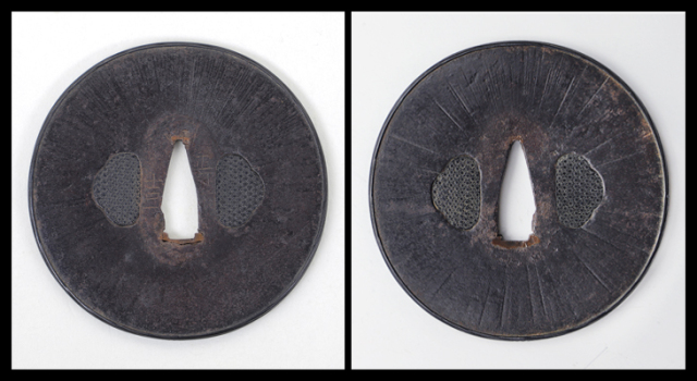 商品番号:T-139 小柄 投網漁師図 京金工として保存刀装具鑑定書付