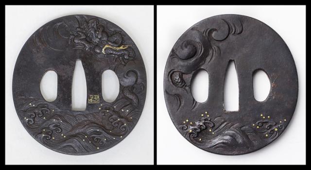 商品番号:T-182 鍔:波龍図 金印(不明)