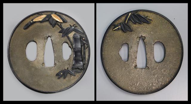 商品番号:T-351 鍔:竹の図 無銘庄内で特別貴重認定書付