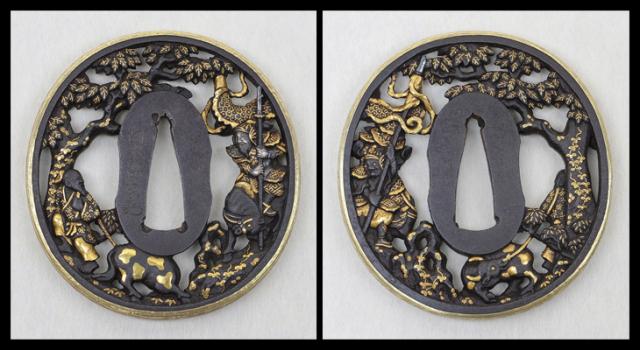 商品番号:T-377 鍔:四方環透図 古正阿弥として保存鑑定書付