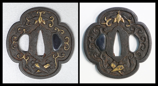 商品番号:T-420 鍔:丁子と唐草紋図