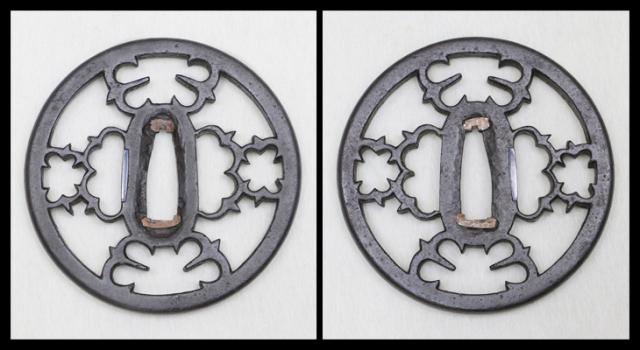商品番号:T-430 鍔:桐紋透図