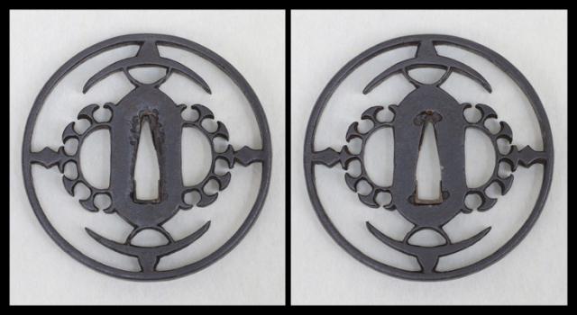 商品番号:T-431 鍔:猿の踊図