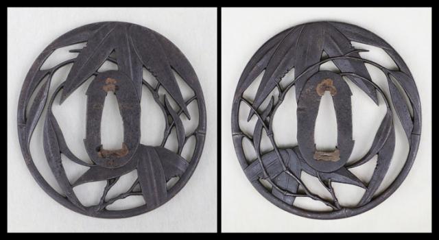 商品番号:T-639 鍔:沢瀉に破扇の図