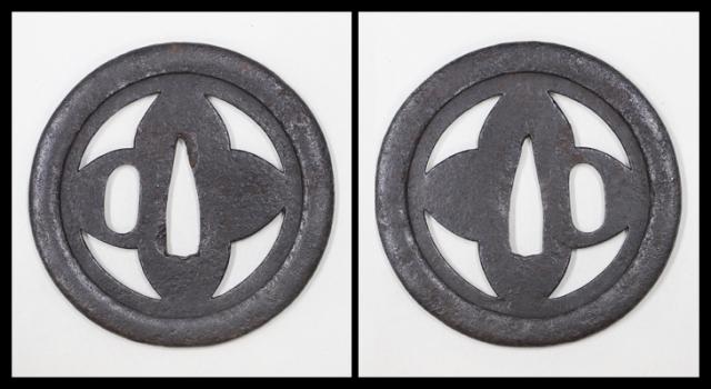 商品番号:T-798 鍔:器具透図 甲冑師として保存刀装具鑑定書付