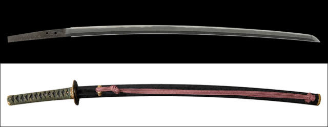 商品番号:V-1622 刀 無銘(大和国保昌) 第二十二回重要刀剣 拵え付き 薫山先生鞘書