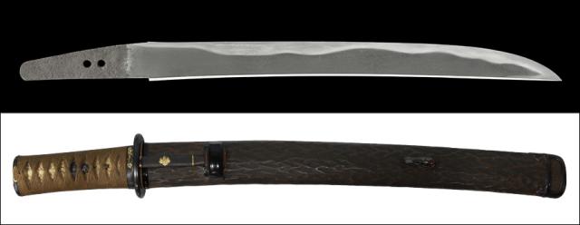 商品番号:V-1748 脇差し 筑前国左国弘(無銘) 第六十回重要刀剣指定品 拵え付き