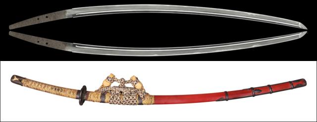 商品番号:V-1797 太刀 (太刀銘)助宗(福岡一文字) 【※価格はお問い合わせ下さい】