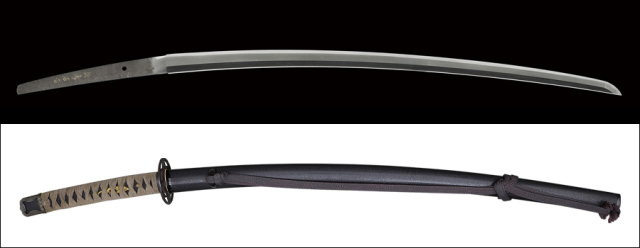 商品番号:V-1903 刀 (金粉銘)延寿国吉 光遜(花押) 第六十五回重要刀剣指定品 探山先生鞘書き有り 拵え付き