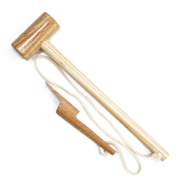 茎抜き木槌
