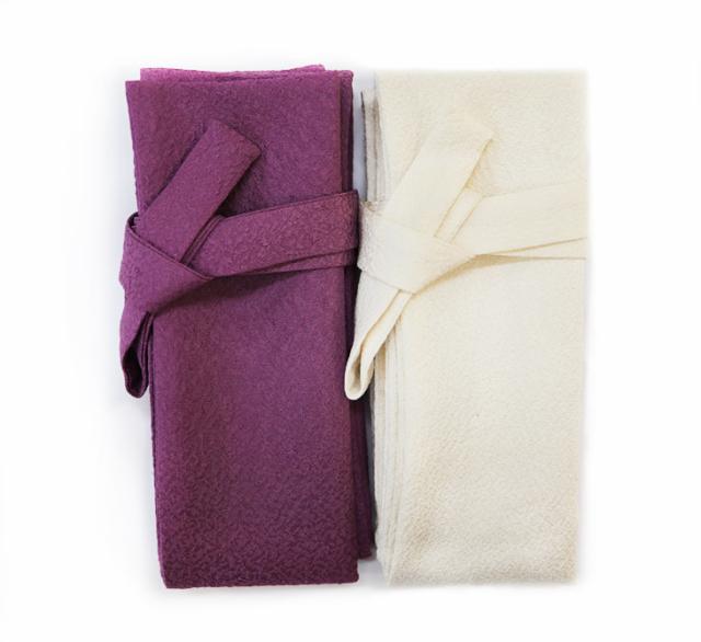高級正絹縮緬白鞘袋(厚芯入り) 刀用