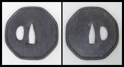 商品番号:T-433 鍔:芋洗い図 無銘奈良として特別保存刀装具鑑定書付