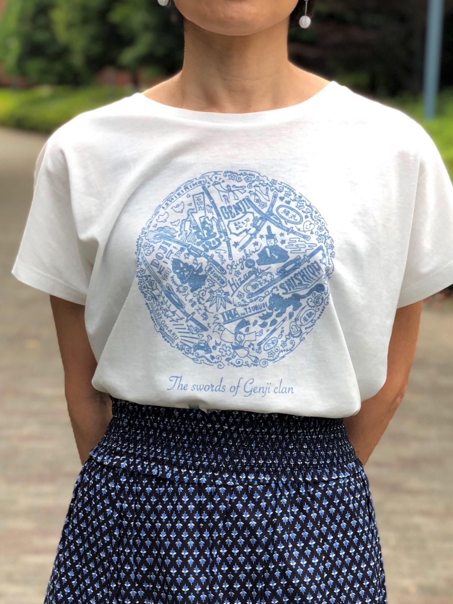 源氏の刀ドルマンスリーブTシャツ