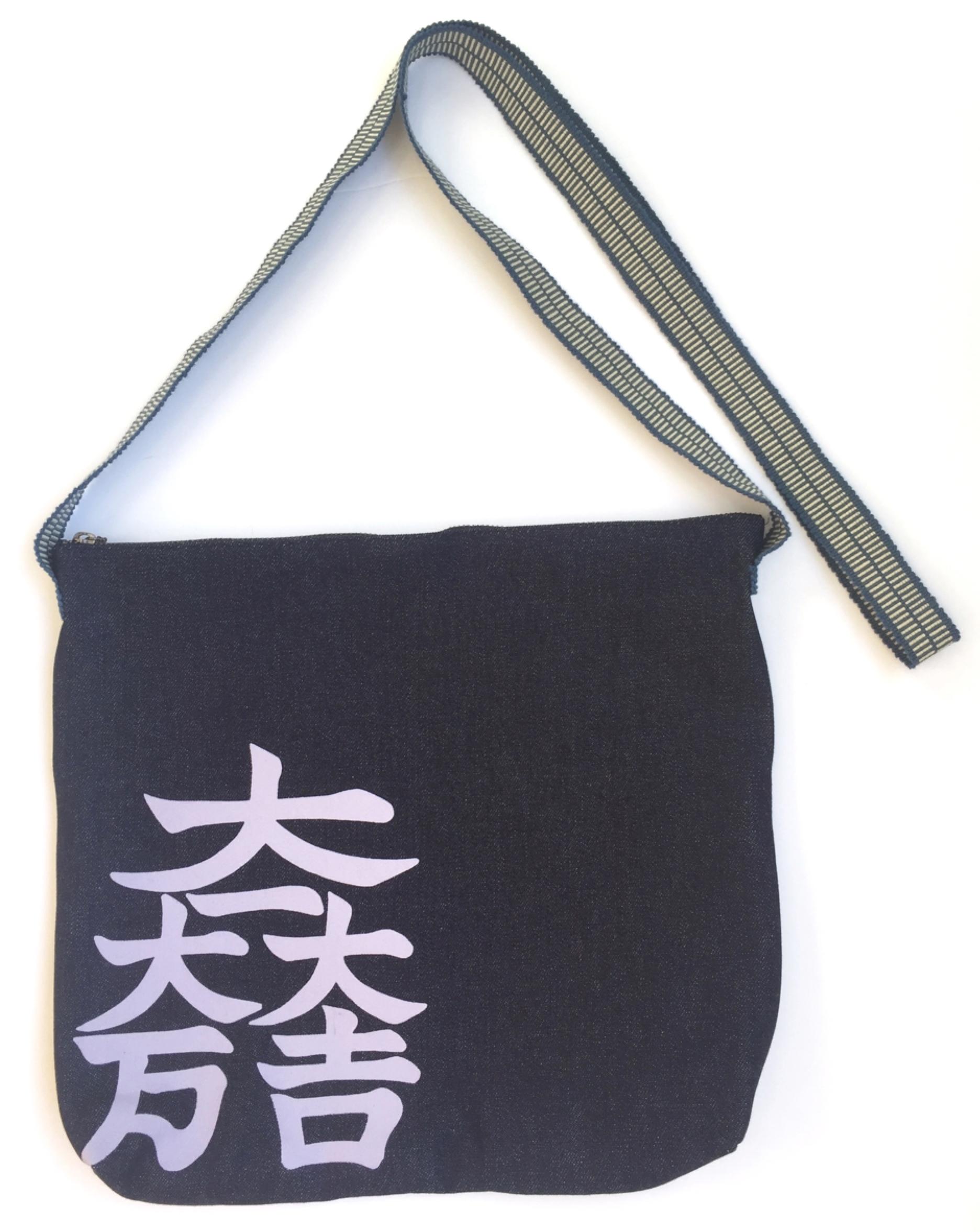 石田三成旗印 大一大万大吉デニムショルダーバッグ
