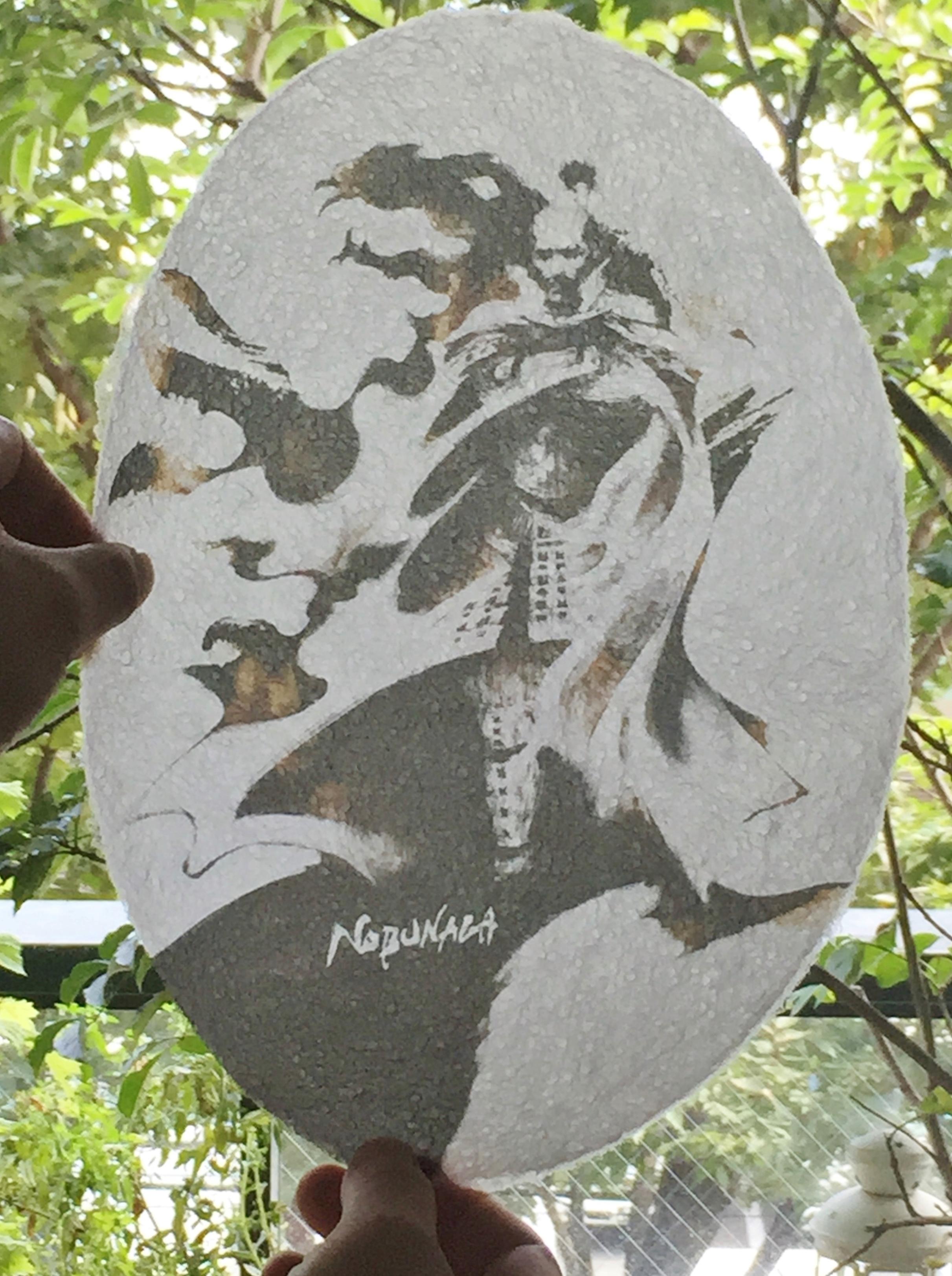 第六天魔王 織田信長 和紙デコシート 越前和紙窓ガラスシール