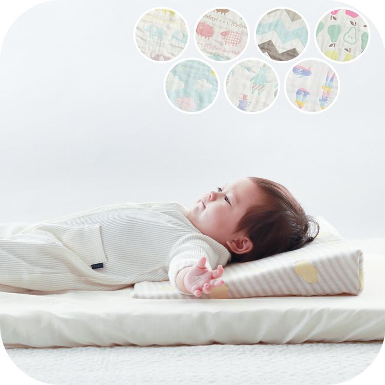 ベビー枕(まくら)|6重ガーゼ  吐き戻しをやわらげるスリーピングピロー 洗える 日本製
